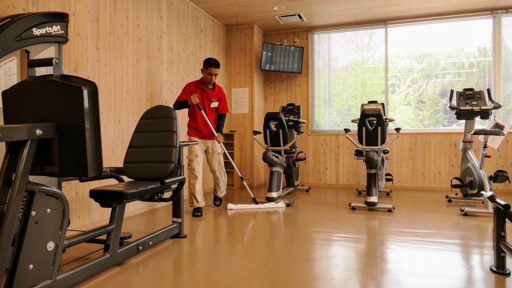 加茂B&G海洋センター様での清掃作業その2